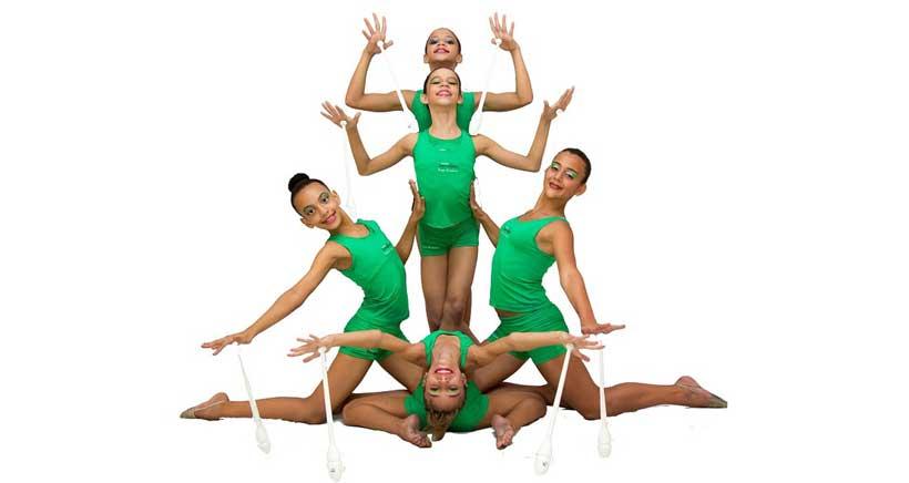 Gala de gimnasia rítmica en el Palacio de los Deportes