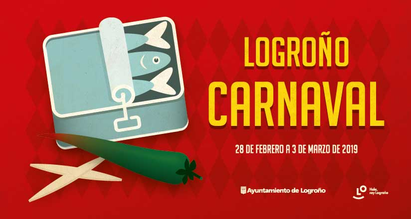 El entierro de la Sardina, protagonista del cartel de Carnaval de Logroño 2019