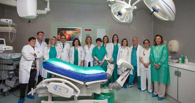 Piel con piel, también en las césareas del Hospital San Pedro