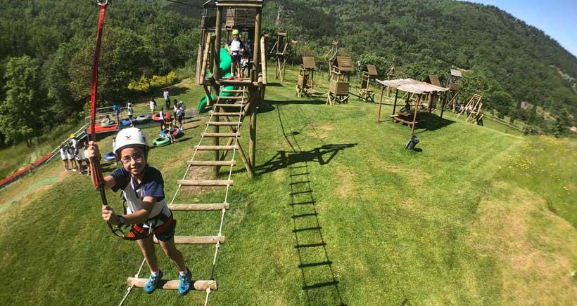 Un día de deporte, diversión y naturaleza en el Parque de Aventura Sierra de Cameros