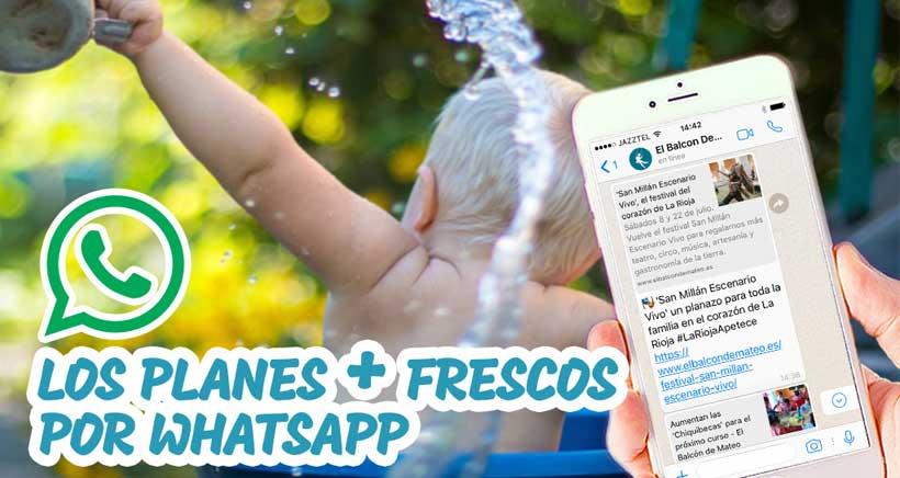 El Balcón de Mateo también por WhatsApp ¡Apúntate ya!