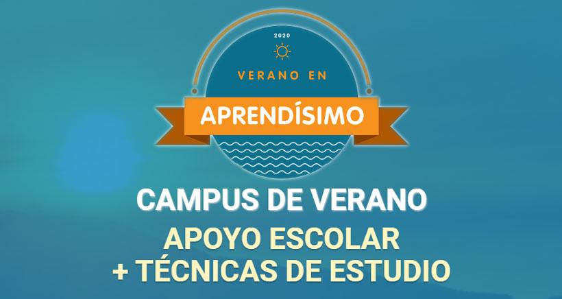 Campus de verano en Aprendísimo para comenzar con garantías el próximo curso