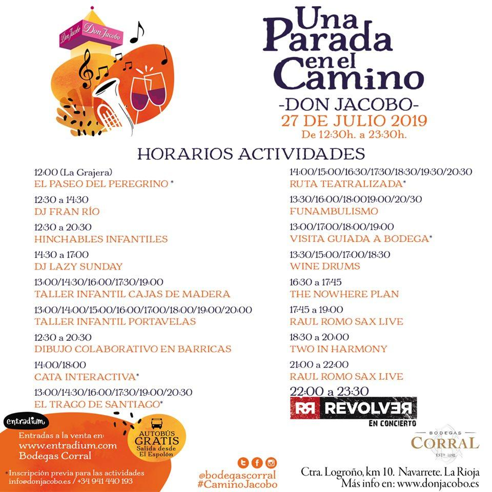 Actividades UNA PARADA EN EL CAMINO 2019 (1)