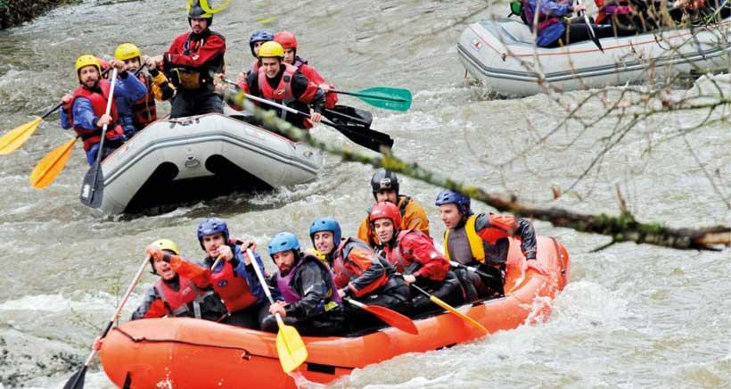 Albelda acoge este sábado el descenso del río Iregua en 'rafts'