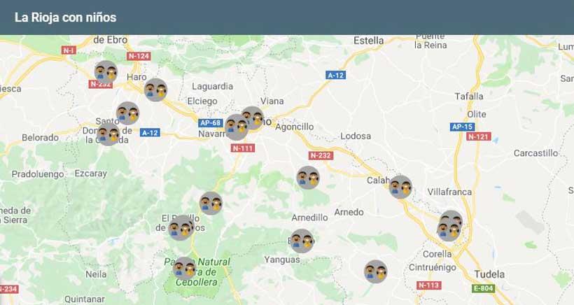 La Rioja en familia (mapa de recursos y actividades)