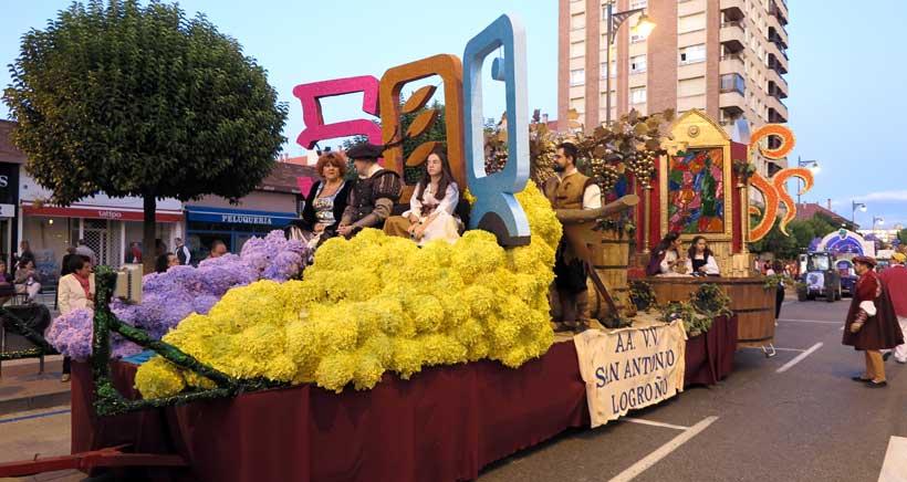 La carroza del V Centenario de Logroño, ganadora del desfile de San Mateo