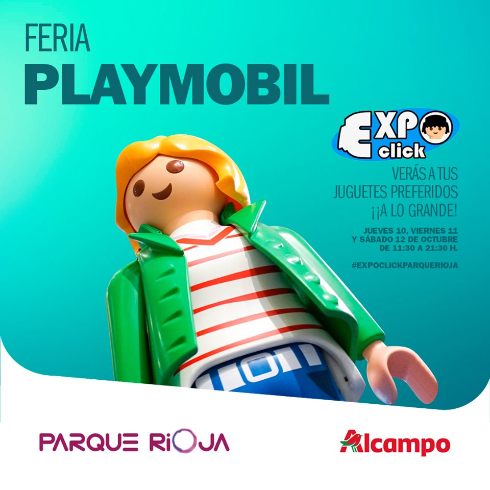 expoclick-playmobil-parque-rioja cartel