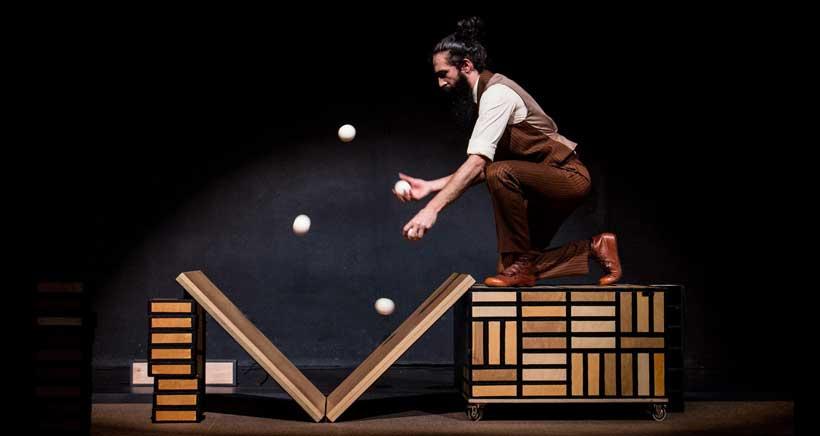 Só, un espectáculo de circo, teatro y malabares este domingo en el Museo Würth