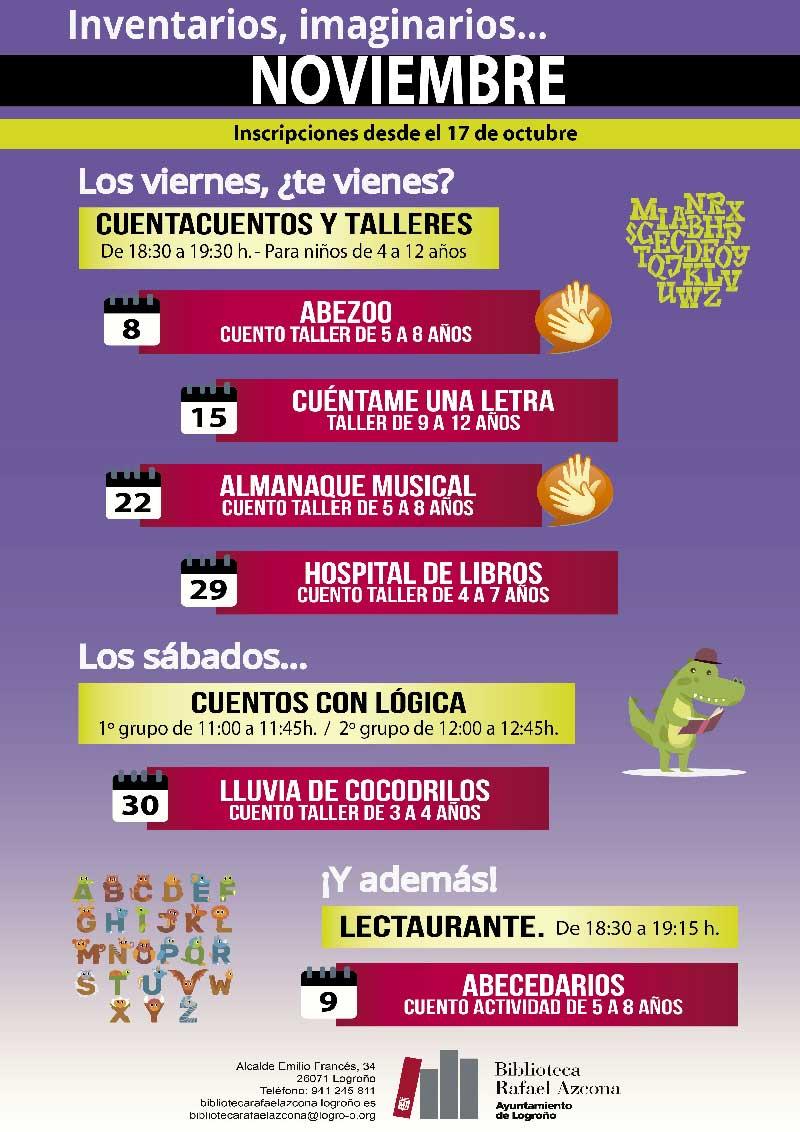 Talleres-noviembre-biblioteca-rafael-azcona