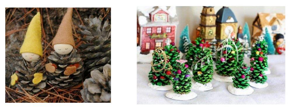 Adornos navidad naturales