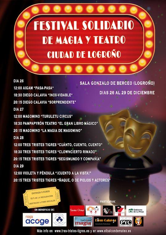 Festival solidario de magia y teatro ciudad logrono