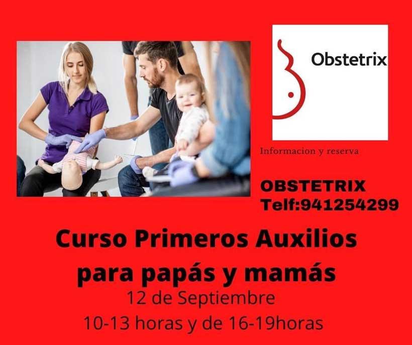 Curso intensivo de primeros auxilios para padres en Obstetrix