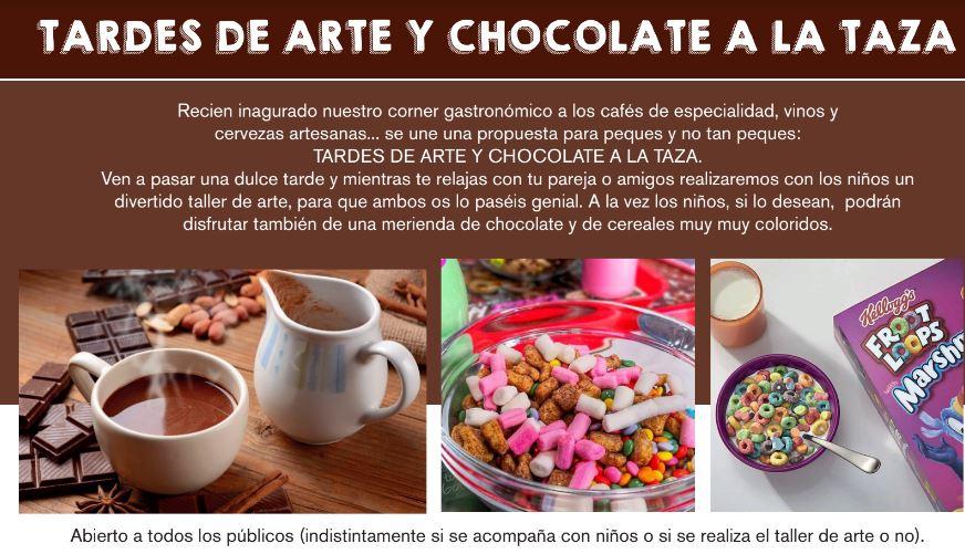 tardes de arte y chocolate