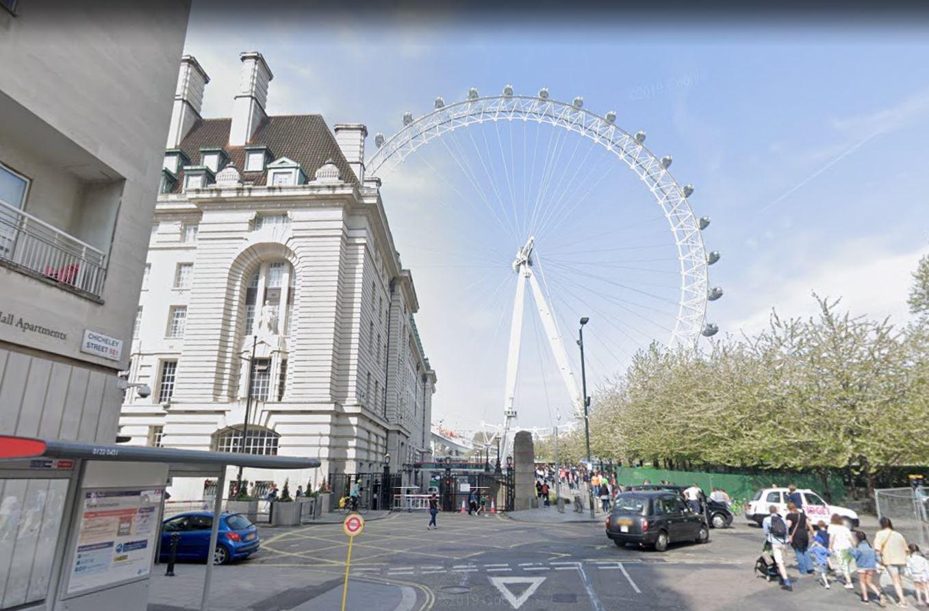 Lodon Eye via Google Earth