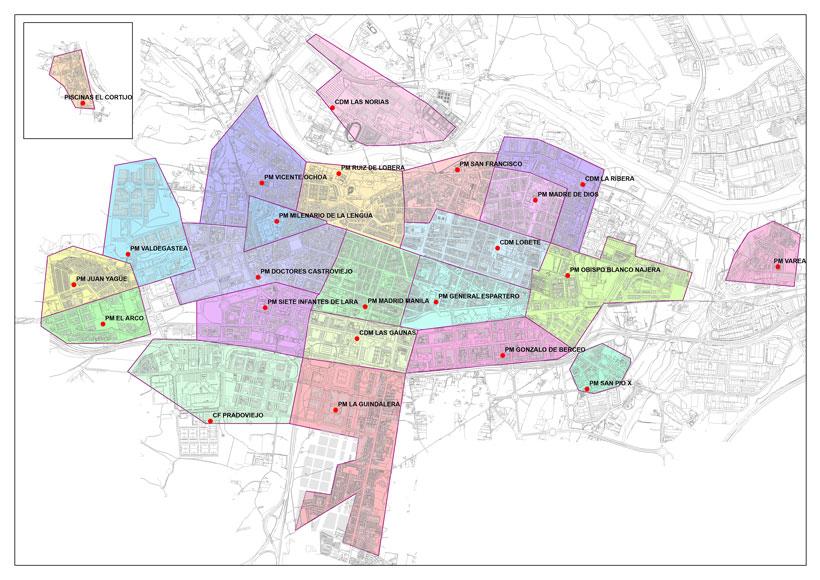 Mapa con los 23 lugares donde recoger las pantallas protectoras para niños desde mañana