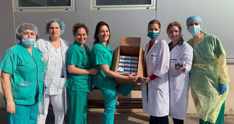 El AMPA de Salesianos dona 100 pulsioxímetros al Hospital San Pedro