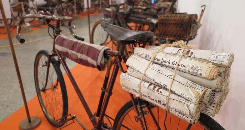 Exposición de bicicletas clásicas en la Casa de las Ciencias