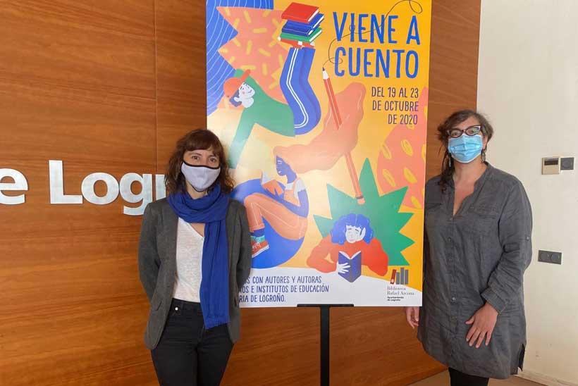 Autores, ilustradores y narradoras visitarán 14 colegios de Logroño a través del programa 'Viene a cuento'