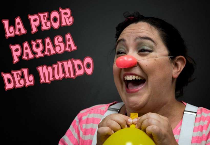 """""""La peor payasa del mundo"""" actuará este domingo en la plaza 1º de Mayo"""