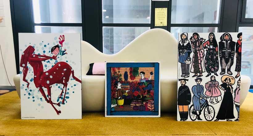 Exposición de álbumes ilustrados en la Biblioteca Rafael Azcona