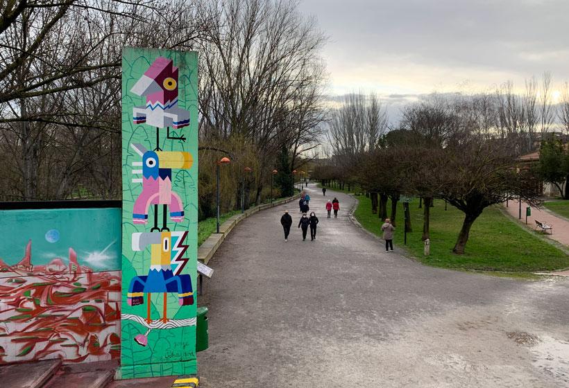 """""""La calle es un museo"""" (2ª parada): murales del Parque del Ebro"""