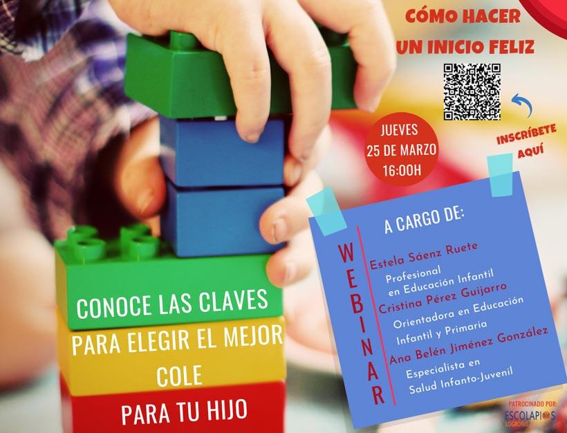 Charla online sobre las claves para escoger colegio para tus hijos