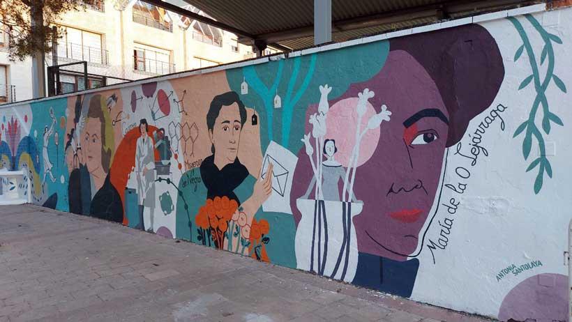 Calahorra inaugura su mural feminista