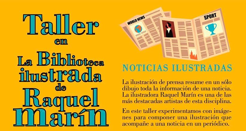 Talleres en la biblioteca ilustrada de Raquel Marín