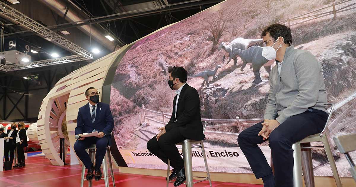 El patrimonio paleontológico y natural de La Rioja, centran el tercer día en FITUR