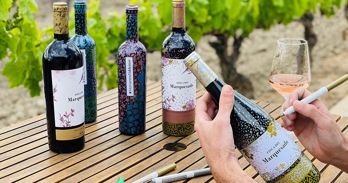 Cata de vinos, almuerzo y taller de pintura en Bodegas Valdemar