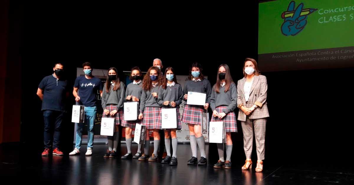 Entrega de premios de los concursos Clases sin Humo y Familias sin Humo