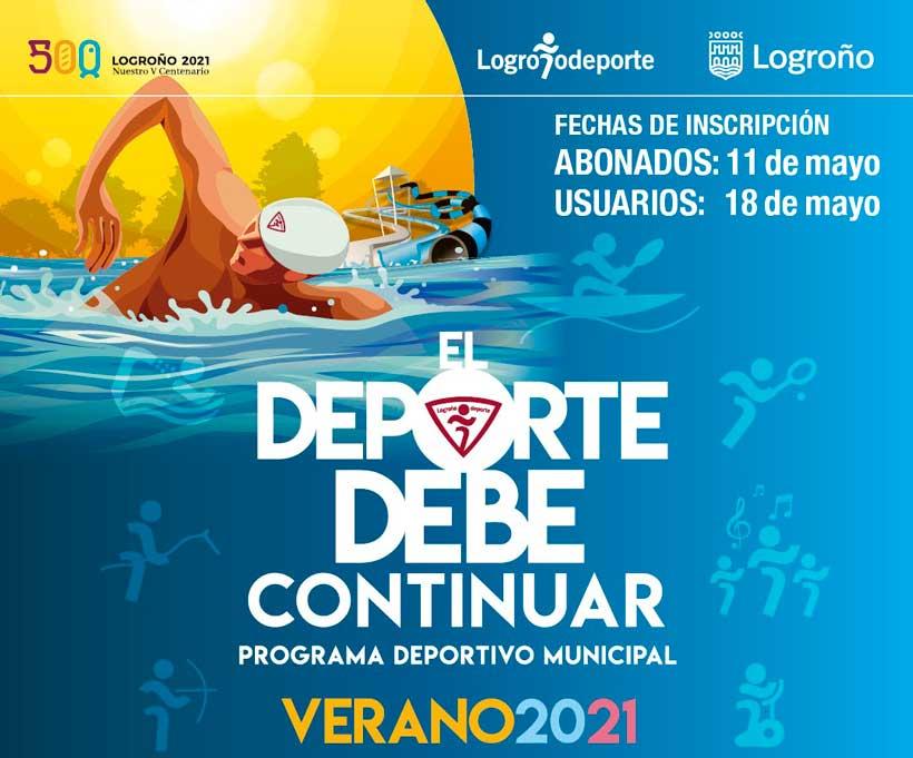 Este martes se abren inscripciones para las actividades de verano de Logroño Deporte
