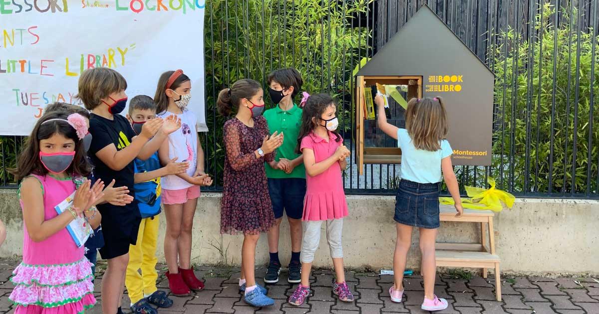 El colegio Montessori Schoolhouse crea una biblioteca para intercambio de libros en La Guindalera