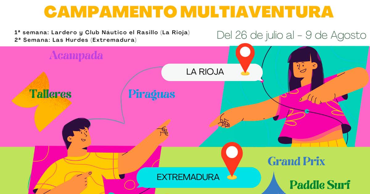Campamento para adolescentes en La Rioja y Extremadura