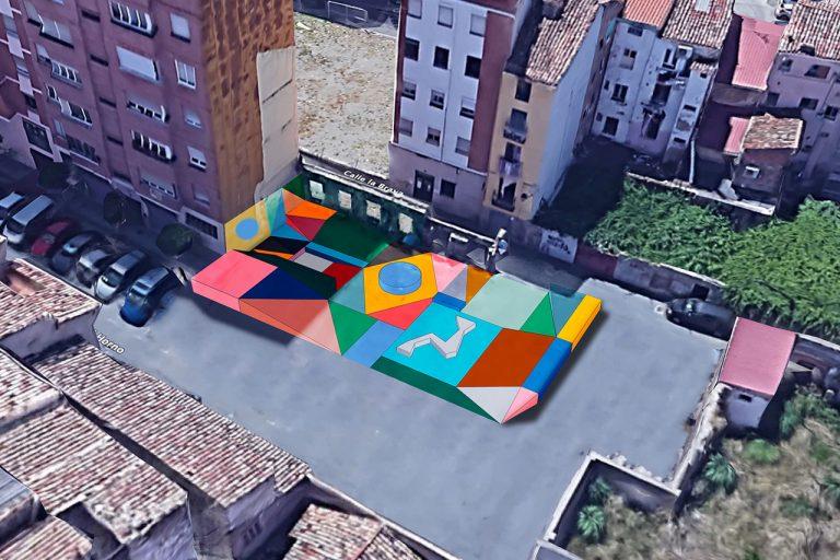Paisaje topográfico pintado 44 flavours La Villanueva