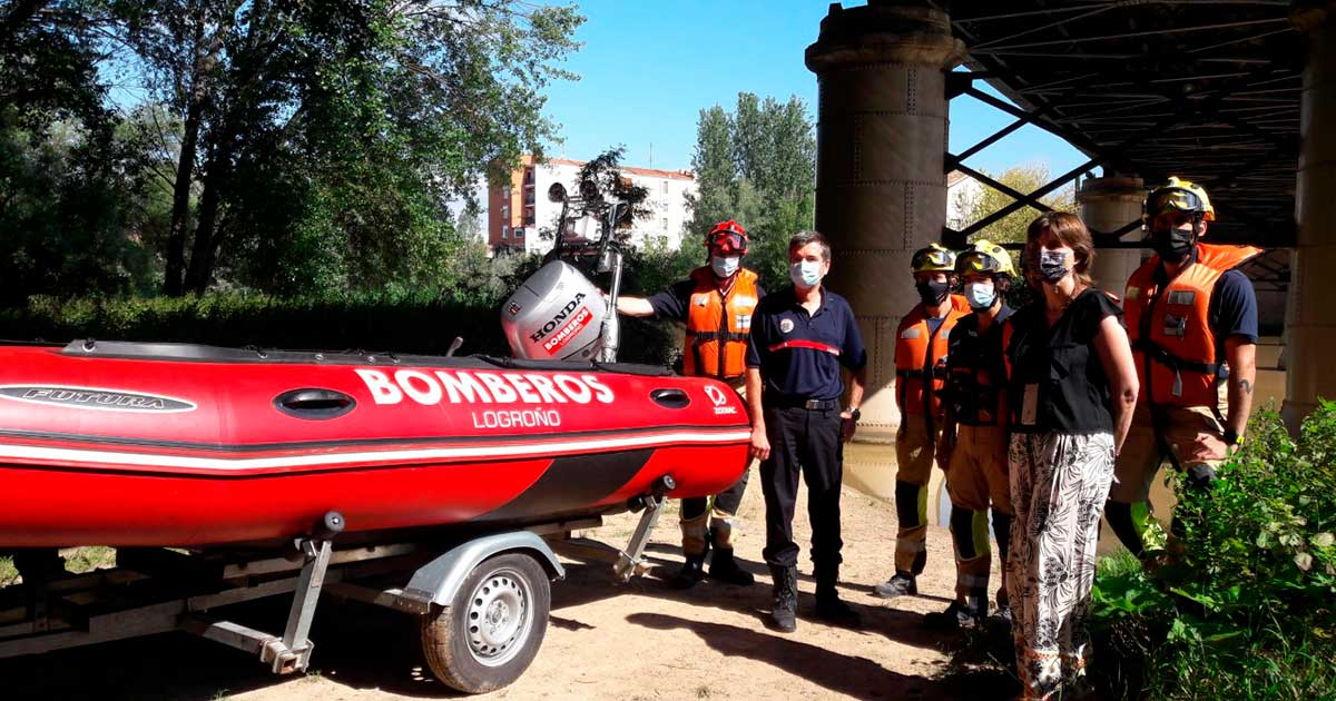 El jefe de Bomberos desaconseja totalmente bañarse en el Ebro por ser un río muy peligroso