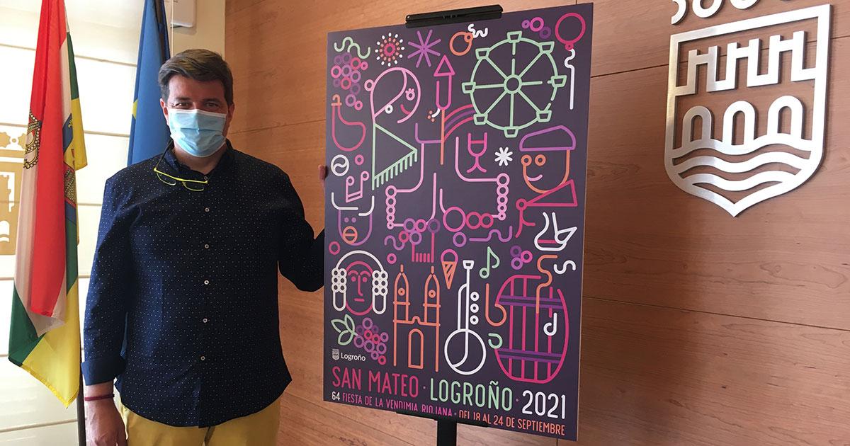 El cartel de fiestas de San Mateo 2021 viene a recuperar el espíritu festivo