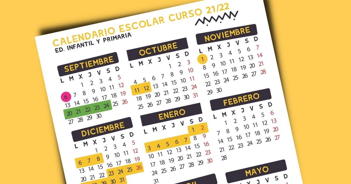 Calendario Escolar 2021/2022 (para imprimir)