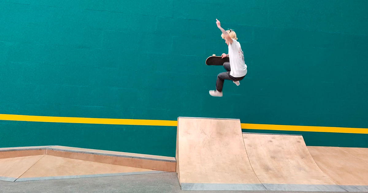 La escuela infantil y juvenil de Skate de Logroño ya funciona a pleno rendimiento